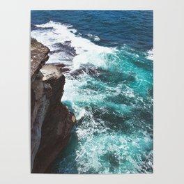 Bondi Beach Cliffs & Blue Ocean in Australia | High Quality Print Poster