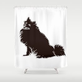 I have Connected the American Eskimo Dog Doggy Dots! Shower Curtain