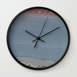 Amethyst slice Wall Clock