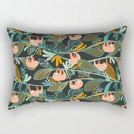 Jungle Sloths Dark Rectangular Pillow
