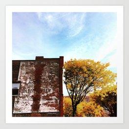 Autumn Ghost Sign - Beacon NY Art Print