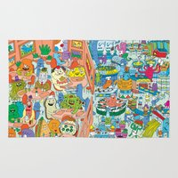 monster inc Area & Throw Rugs featuring Chez Monster by Clayton (CTON) Hanmer
