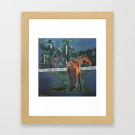 Looking On Framed Art Print