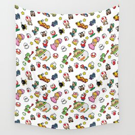 It's a really SUPER Mario pattern! Wall Tapestry