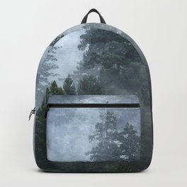 Smoky Redwood Forest Foggy Woods - Nature Photography Backpack