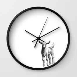 White Goat Baby SK133 Wall Clock