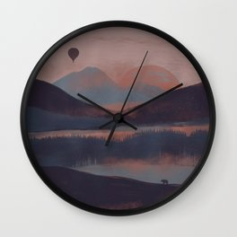 Adrift in the Mountains... Wall Clock