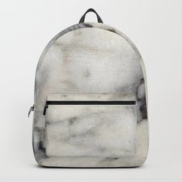 Smoky-White Marble with Black Veins Texture Backpack