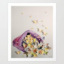 Bagful of Butterflies Art Print