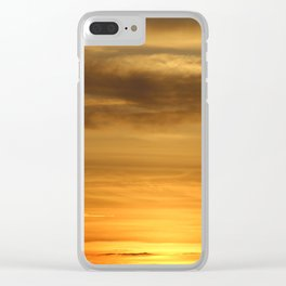 Sunset on Topsail Island Clear iPhone Case