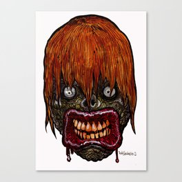 Zombie Heads of the Living Dead: Suction Zombie Canvas Print