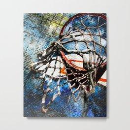 Art Of Basketball Hoop Metal Print