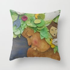 COLLAGE LOVE: Africa, the mother nature  Throw Pillow