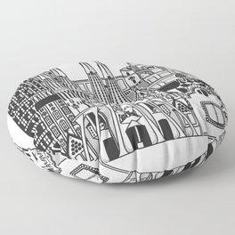 Barcelona_Landmarks Floor Pillow