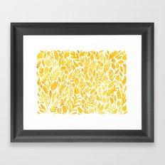 Dandelion Yellow Framed Art Print