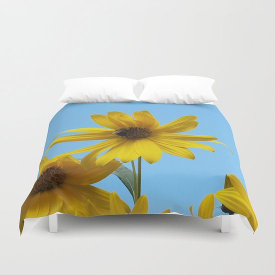 The Golden Sunflower Duvet Cover