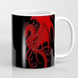 Flying Red and Black Tribal Dragon Coffee Mug