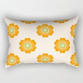 4 Sho - 70's retro 1970's throwback pattern floral flower motif decor hipster Rectangular Pillow