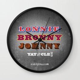 Lonnie, Bronny, Johnny Wall Clock