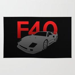 Ferrari F40 Rug