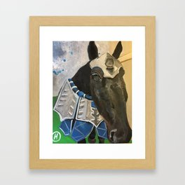 Abe; The Jousting Horse Framed Art Print