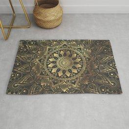 Elegant gold mandala artwork Rug