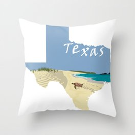 Texas: Mustang Island Throw Pillow