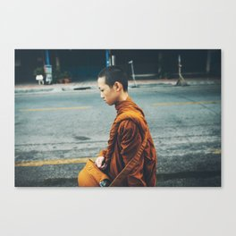 Young Monk in Chiang Mai Canvas Print