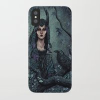 maleficent iPhone & iPod Cases featuring Maleficent by Angela Rizza