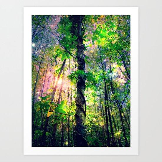 Forest of the Fairies (Deep Pastels) Art Print