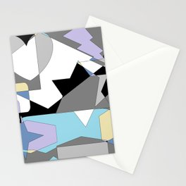 Neutral Blues Shapes Stationery Cards