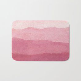 Ombre Waves in Pink Bath Mat