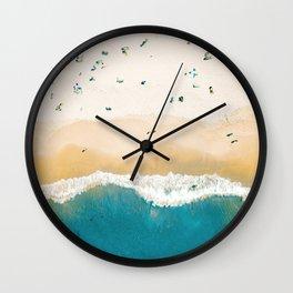 Hapuna Beach   Big Island Hawaii  Wall Clock