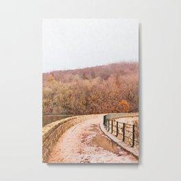 Landscape bridge watercolor painting Metal Print