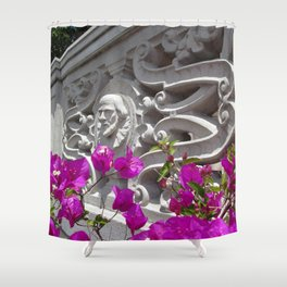 Hearst castle bougainvillea Shower Curtain
