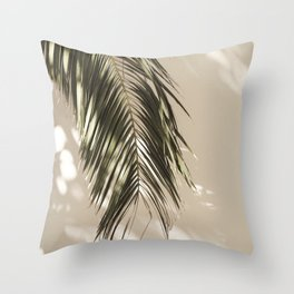 Palm Leaf Shadow Summer Throw Pillow