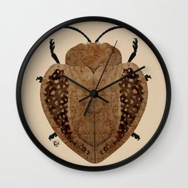 Exotic Wood Tortoise Beetle Wall Clock