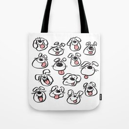 Happy Dog Faces Tote Bag