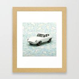 Vintage 1961 Jaguar Type E Matchbox Framed Art Print