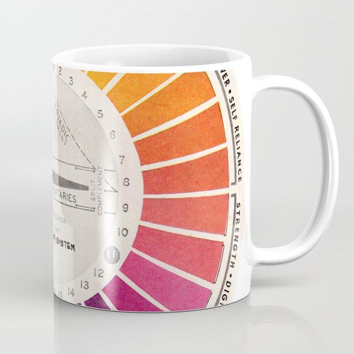 Vintage Color Wheel - Art Teaching Tool - Rainbow Mood Chart Pride Kaffeebecher