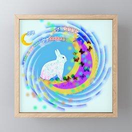 Bunny Day Framed Mini Art Print