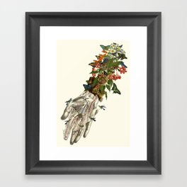 outreached anatomical collage art by Bedelgeuse Framed Art Print