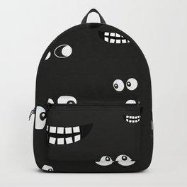 Glowing in the dark eyes vector halloween background design pattern Backpack