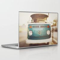 volkswagen Laptop & iPad Skins featuring Volkswagen Bus by Briole Photography