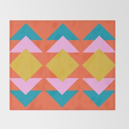 Colorful and Bold Geometric Design Throw Blanket