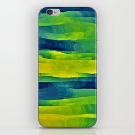 Acid Yellow and Indigo Abstract iPhone Skin