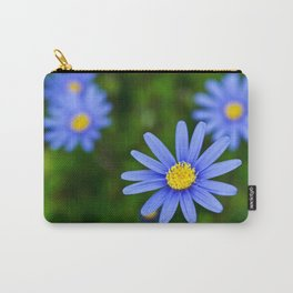 Blue Flower, Yellow Heart Carry-All Pouch