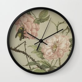 Vintage Flower and Bee Wall Clock