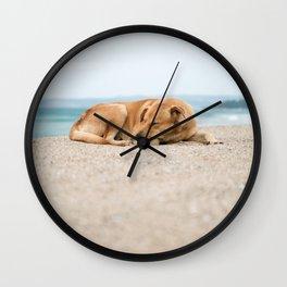 Sleeping Dog Wall Clock