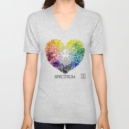 Spectrum Rainbow Heart Unisex V-Neck